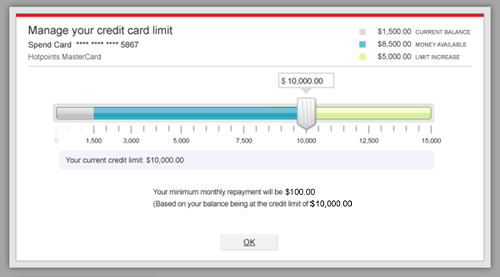 how to add credit card limit